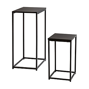 Honey-Can-Do Set Of 2 Square Black Side Tables, , large