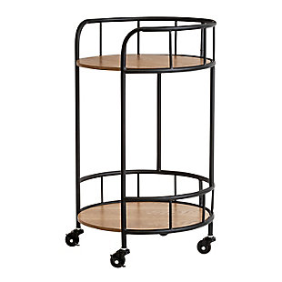 Honey-Can-Do 2-Tier Round Side Table with Wheels, , large