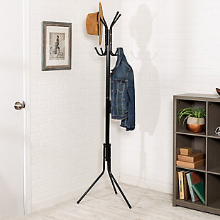 Honey-Can-Do 3-Tier, 9-Hook Coat And Hat Rack, , rollover