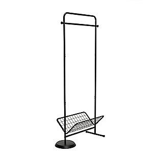 Honey-Can-Do Swivel Coat Rack Valet with Basket, , large