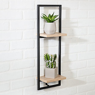 Honey-Can-Do 2-Tier Vertical Floating Wall Shelf, , rollover
