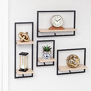 Honey-Can-Do Large Horizontal Floating Wall Shelf, , large