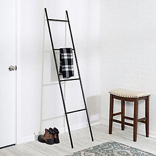 Honey-Can-Do Leaning Black Ladder Rack, , rollover