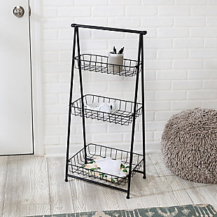 Honey-Can-Do 3-Tier Folding A-Frame Entryway Shelf, , rollover