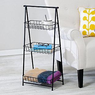 Honey-Can-Do 3-Tier Folding A-Frame Entryway Shelf, , large