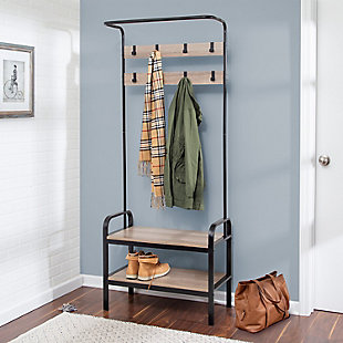 Honey-Can-Do Entryway Organizer with Hooks And Shoe Storage, , rollover