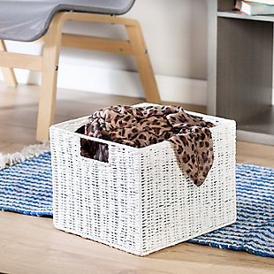 Honey-Can-Do Parchment Cord Storage Crate, , rollover