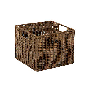 Honey-Can-Do Parchment Cord Storage Crate, , large