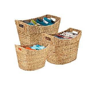 Honey-Can-Do Nesting Water Hyacinth Baskets, , rollover