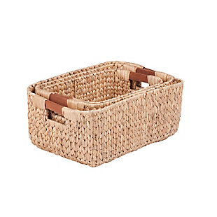 Honey-Can-Do Square Nesting Water Hyacinth Baskets, , large