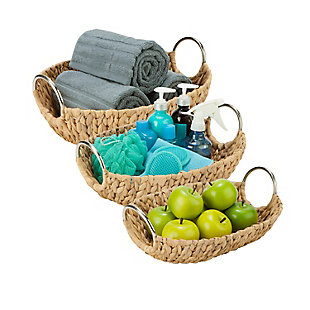 Honey-Can-Do Oval Nesting Water Hyacinth Baskets, , rollover