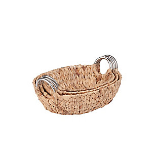 Honey-Can-Do Oval Nesting Water Hyacinth Baskets, , large
