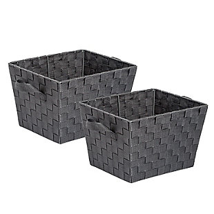 Honey-Can-Do Charcoal Woven Baskets (Set of 2), , large