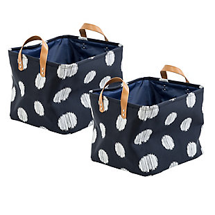 Honey-Can-Do Canvas Scribble Totes (Set of 2), , large