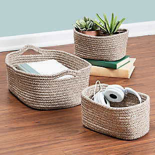 Honey-Can-Do Nested Cotton Baskets with Handles (Set of 3), , rollover