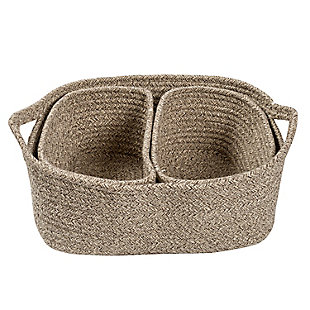 Honey-Can-Do Nested Cotton Baskets with Handles (Set of 3), , large