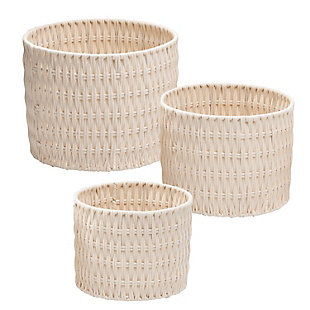 Honey-Can-Do Metal Frame Nesting Round Rope Baskets (Set of 3), , large