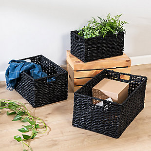 Honey-Can-Do Nesting Rectangle Maize Baskets (Set of 3), , rollover