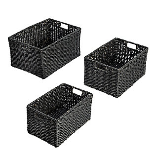 Honey-Can-Do Nesting Rectangle Maize Baskets (Set of 3), , large