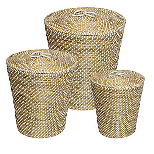 Honey-Can-Do Nesting Seagrass Snake Charmer'S Baskets (Set of 3), , large