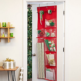 Honey-Can-Do Over-The-Door Wrapping Paper Organizer, , rollover