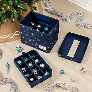 Honey-Can-Do Deluxe 36-Cube Ornament Storage Box, , rollover