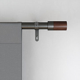 Home Accents Umbra Blok Curtain Rod, 36 to 72 Inch, Gunmetal, Gray, rollover