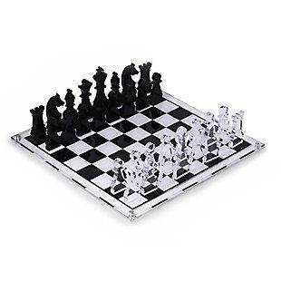 Bey-Berk Acrylic 28 Piece Chess Set, , large