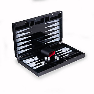 Bey-Berk Black Acrylic Backgammon Set, , large
