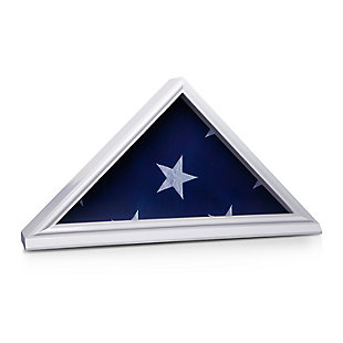 Bey-Berk Hand Crafted 5' X 9.5' Burial Flag Display Case in Solid White Wood, , rollover
