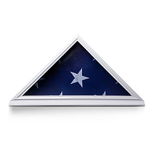 Bey-Berk Hand Crafted 5' X 9.5' Burial Flag Display Case in Solid White Wood, , large