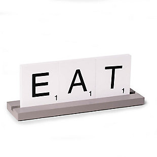 Bey-Berk Eat Scrabble Design Table Top Decor, , rollover