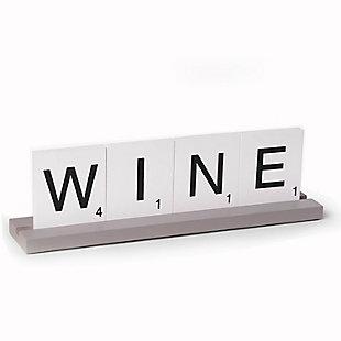 Bey-Berk Wine Scrabble Design Table Top Decor, , rollover