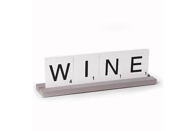 Bey-Berk Wine Scrabble Design Table Top Decor, , large