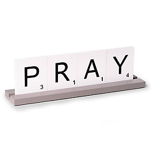 Bey-Berk Pray Scrabble Design Table Top Decor, , large