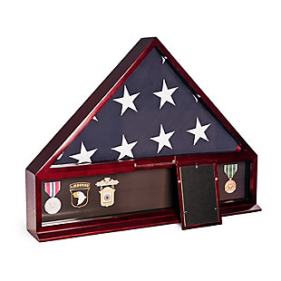 Bey-Berk Handcrafted Military Flag and Medal Display Case, , rollover