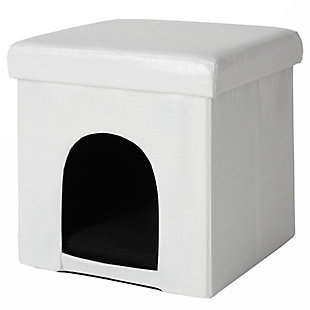 "Nourison Mina Victory Pet Beds 15"" x 15"" x 15"", White, large"