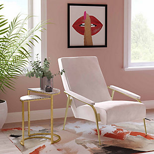 Abbey Blush Velvet Chair, Blush, rollover