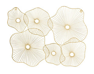 Amoeba  Gold Wall Art, , large