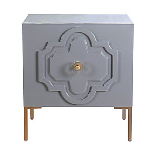 Anna Gray Lacquer Side Table, Gray, large