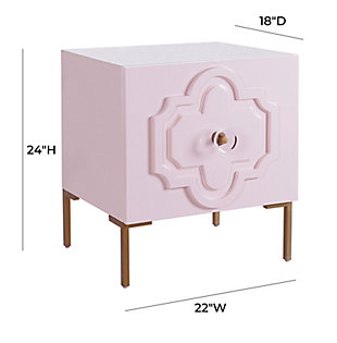 Anna Pink Lacquer Side Table, Pink, large