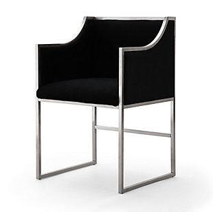 Atara Black Velvet Gold Chair, Black, large