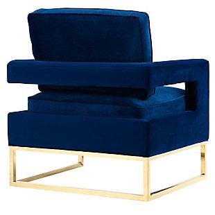 Avery Navy Velvet Chair, Blue, large