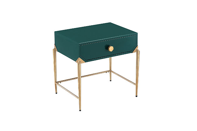Bajo  Green Lacquer Side Table, Green, large