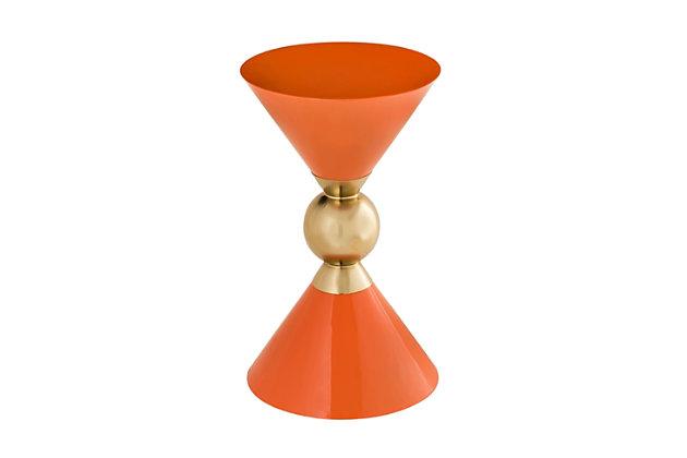 Balhi Orange Side Table, Orange, large