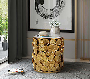 Brie Marble Side Table, , rollover