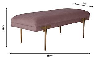 Brno  Mauve Velvet Bench, Purple, large