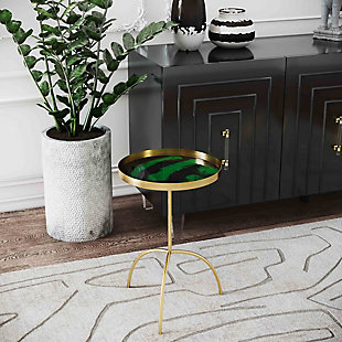 Enamel Black/Green Accent Table, , rollover