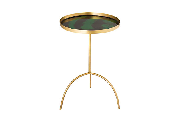 Enamel Black/Green Accent Table, , large