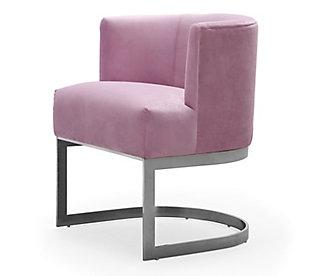 Eva Blush Velvet Chair, , large